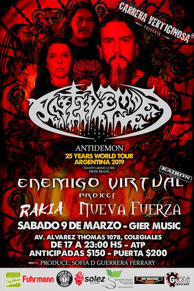 Antidemon en Gier Club en 09/03/2019 en Argentina