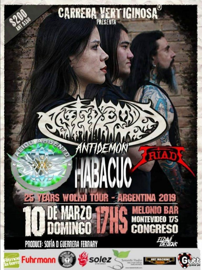 Antidemon en Melonio Bar en 10/03/2019 en Argentina